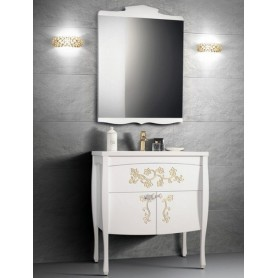 Мебель для ванной Белюкс Порто 80, цвет белый с золотом