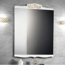 Зеркало Белюкс Порто 70, цвет белый с золотом
