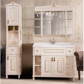 Мебель для ванной Белюкс Флоренция 110 цвет слоновая кость с золотой патиной