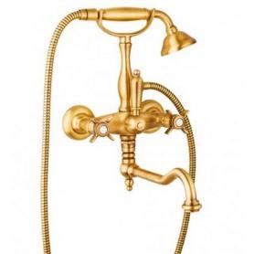Смеситель для ванны Cezares Lord VDF-03 золото ➦ Vanna-retro.ru
