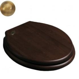 Деревянное сидение для унитаза Simas Londra LO 005 орех, петли бронза ➦