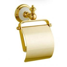 Бумагодержатель Bogeme Palazzo Bianco 10101 золото/белый ➦