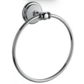 Полотенцедержатель кольцо Bogeme Vogue Bianco, 10135, цвет: хром/белый ➦