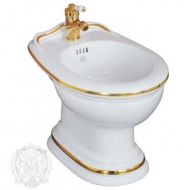 Биде напольное Migliore Milady 25.732 D2 (декор золото)