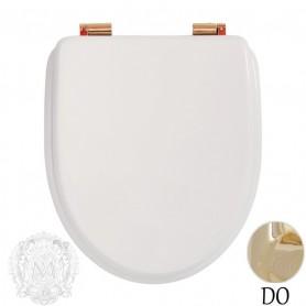 Сидение для унитаза с микролифтом Migliore Milady 26.710.LB (петли золото) ➦