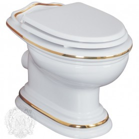 Унитаз приставной Migliore Milady 25.711/25.712 D2 (декор золото)