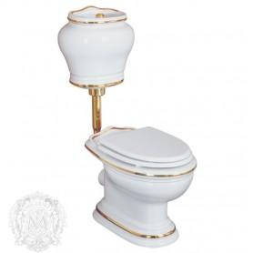 Унитаз с низким бачком под кнопку смыва Migliore Milady 25.711/25.712 D2 (декор золото)