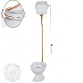 Унитаз с высоким бачком Migliore Milady 25.711/25.712 D1 (декор золото)