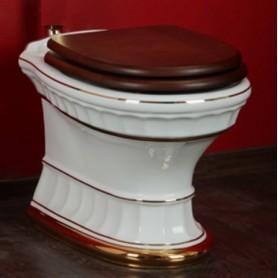 Унитаз напольный приставной Migliore Gianeta 25.811 D1 (декор золото)