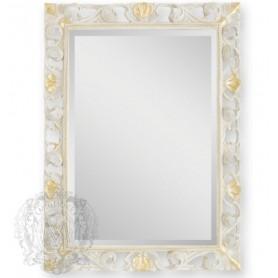 Зеркало прямоугольное Migliore 70.708 (цвет белый с золотом) ➦ Vanna-retro.ru