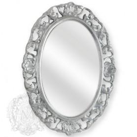 Зеркало овальное Migliore 70.703 (цвет серебро) ➦ Vanna-retro.ru