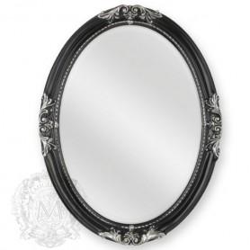 Зеркало овальное Migliore 70.503 (цвет черный с серебром) ➦ Vanna-retro.ru