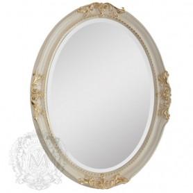 Зеркало овальное Migliore 70.503 (цвет белый с золотом) ➦ Vanna-retro.ru