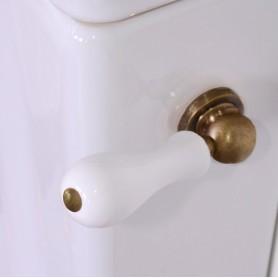 Смывной механизм для бачка моноблок с боковой ручкой Kerasan Retro 754293 бронза