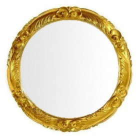 Зеркало круглое Migliore 70.728 (цвет золото) - Vanna-retro.ru