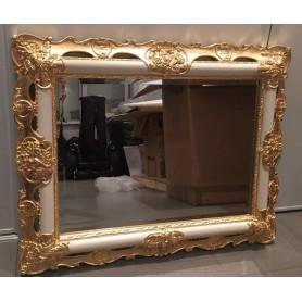 Зеркало прямоугольное Migliore 70.508 (цвет белый с золотом)