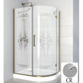 Душевой уголок Cezares Magic Royal Palace RH-1 120х90 см., профиль хром, стекло