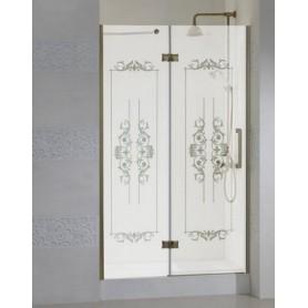 Душевая дверь Cezares Magic Royal Palace B-12 100 см., профиль бронза, стекло с декором