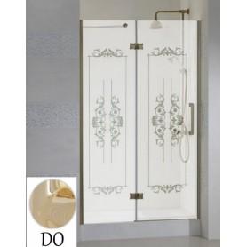 Душевая дверь Cezares Magic Royal Palace B-12 90 см., профиль золото, стекло с декором