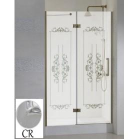 Душевая дверь Cezares Magic Royal Palace B-12 90 см., профиль хром, стекло с декором