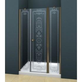 Душевая дверь Cezares Royal Palace B-13, 130 см., профиль бронза, стекло прозрачное