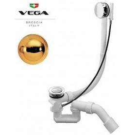 Слив-перелив для ванны Vega в цвете золото (100 см.) ➦ Vanna-retro.ru