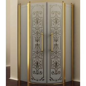 Душевой уголок Romance Collection Malme 100x100 см., профиль золото