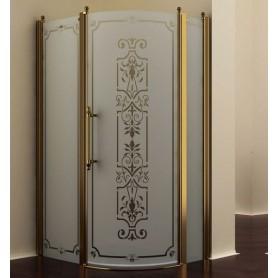 Душевой уголок Romance Collection Malme 120x90 см., профиль бронза