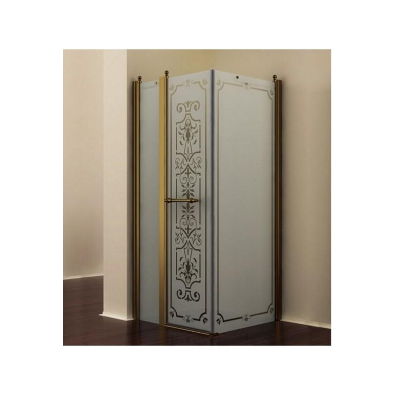 Душевой уголок Romance Collection Skara 120x90 см., профиль бронза, стекло матовое