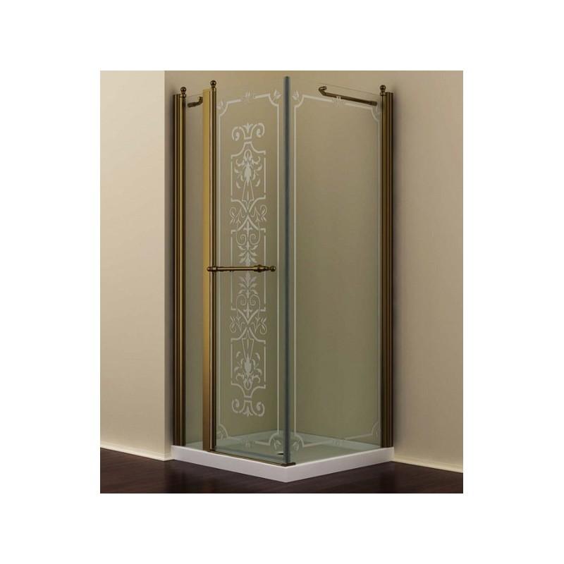 Душевой уголок Romance Collection Skara 120x90 см., профиль бронза, стекло