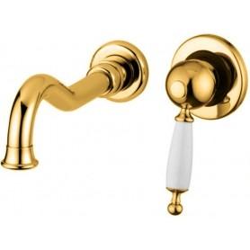Смеситель для раковины настенный Migliore Oxford 6345 золото