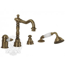 Смеситель на борт ванны с термостатом Migliore Oxford 6358 бронза ➦ Vanna-retro.ru
