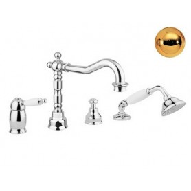 Смеситель на борт ванны Migliore Oxford 6355 золото ➦ Vanna-retro.ru