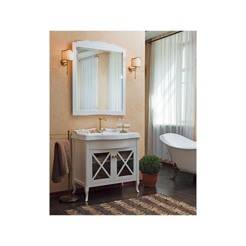 Мебель для ванной La Beaute Brigitte BRI90LBL (белый глянец) ➦ Vanna-retro.ru