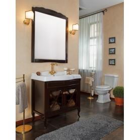 Мебель для ванной La Beaute Brigitte BRI90MOK (темное дерево глянец)