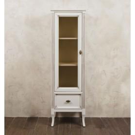 Шкаф-колона La Beaute Vivien (слоновая кость с патиной матовый) ➦ Vanna-retro.ru
