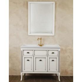 Мебель для ванной La Beaute Vivien BVI100LBP (белый с патиной)