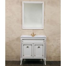Мебель для ванной La Beaute Vivien BVI80P.LBP (белый с патиной)