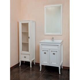Мебель для ванной La Beaute Vivien BVI60P.LBP (белый с патиной) ➦ Vanna-retro.ru