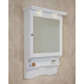 Зеркало-шкаф La Beaute Lorette SLO70LBL.Dx (белый глянцевый)