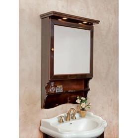 Зеркало-шкаф La Beaute Lorette SLO70MOK.Dx (темное дерево глянцевый)