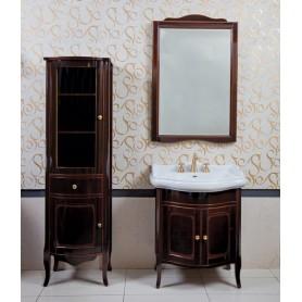 Мебель для ванной La Beaute Lorette BLO70MOK (темное дерево глянцевый)