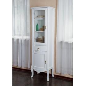 Шкаф-колона La Beaute Nora (белый глянцевый) ➦ Vanna-retro.ru