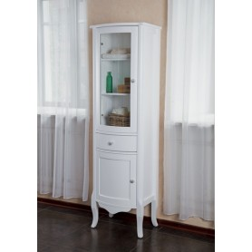 Шкаф-колона La Beaute Sabrina (белый матовый)