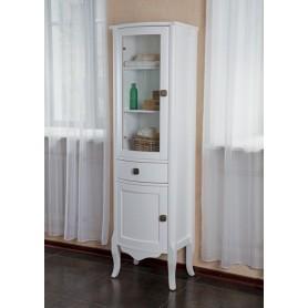 Шкаф-колона La Beaute Joanna (белый глянцевый)