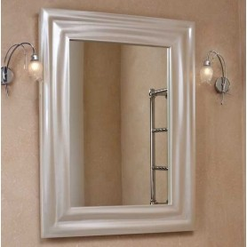 Зеркало La Beaute Nicole SHO76100LMBL (перламутр бежевые глянцевый) ➦ Vanna-retro.ru