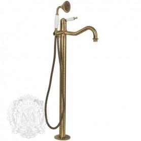 Смеситель для ванны напольный Migliore Oxford 6360 бронза ➦ Vanna-retro.ru