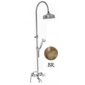Душевая стойка для ванны с изливом Migliore Lady цвет бронза -