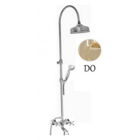 Душевая стойка для ванны с изливом Migliore Lady цвет золото -
