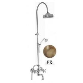 Душевая стойка для ванны с изливом Migliore Arcadia цвет бронза